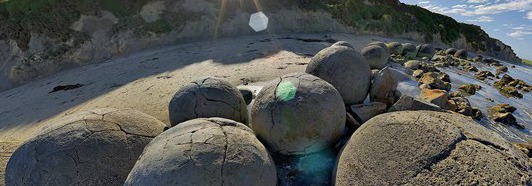 Moeraki boulders, New Zealand - AirPano.com • 360 Degree Aerial Panorama • 3D Virtual Tours Around the World
