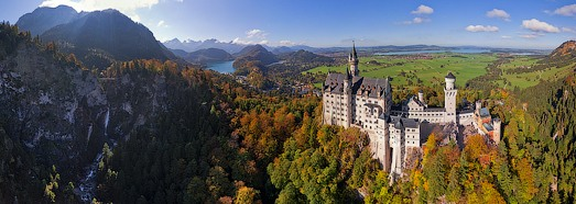 Virtual Tour over Neuschwanstein Castle, Germany - AirPano.com • 360 Degree Aerial Panorama • 3D Virtual Tours Around the World