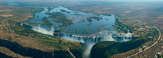 Victoria Falls, Zambia and Zimbabwe border - AirPano.com • 360 Degree Aerial Panorama • 3D Virtual Tours Around the World