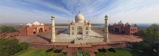 Тадж-Махал, Индия - AirPano.ru • 360 Градусов Аэрофотопанорамы • 3D Виртуальные Туры Вокруг Света