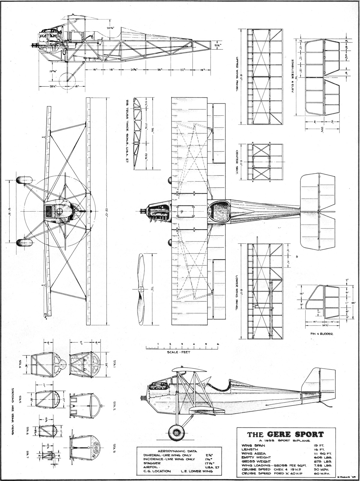 The Gere Sport Biplane Article Amp Plans May American
