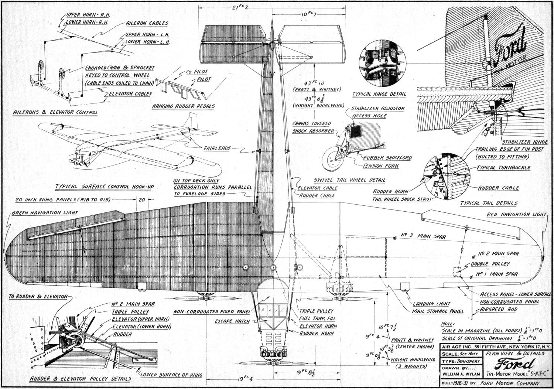 Ford Tri Motor Model Plans