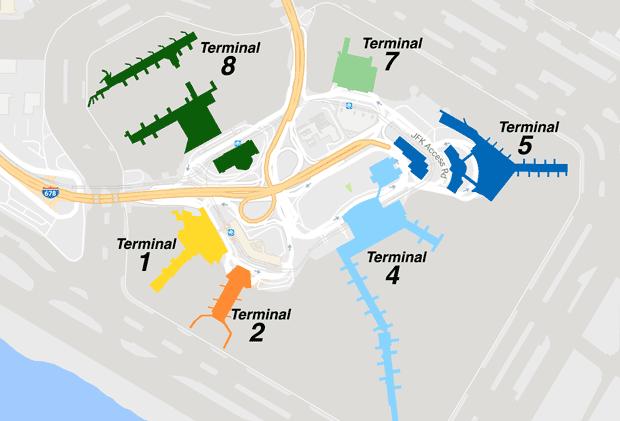Mapa JFK Terminal Latam Delta
