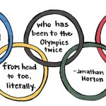 Olympic rings with hand written testimonial
