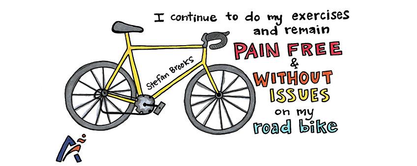 Pain free on my road bike