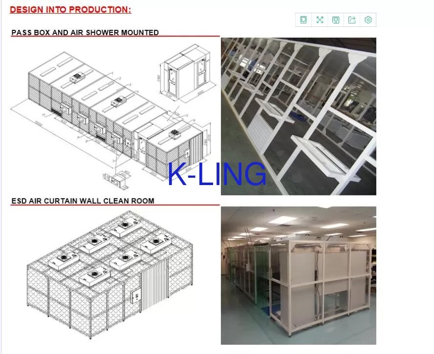 110v 60hz class 1000 pharmacy softwall clean room with hepa filtration