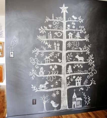 kara tahta-yılbaşı ağacı