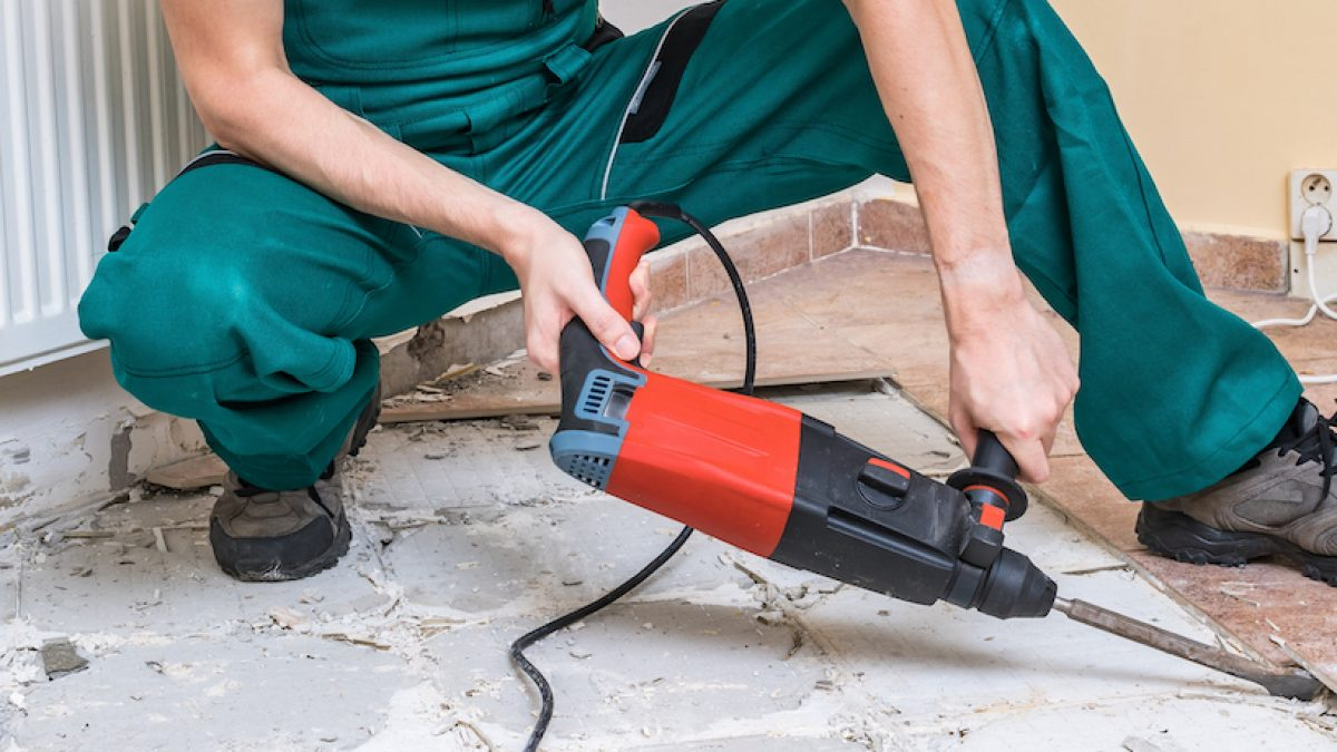 how to remove tile floor