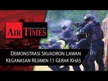 Demonstrasi Skuadron Lawan Keganasan Rejimen 11 Gerak Khas