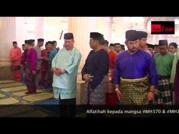 DYMM Sultan Johor di Masjid Abu Bakar Johor Bahru - Solat Sunat AidilFitri 2014