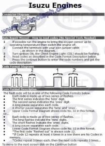 ISUZU 3 PINS manual diagnostic jumper settings, www