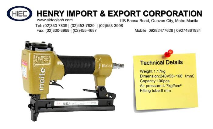 for-sale-1022j-air-staplers-in-the-philippines-henry-import-and-export-corporartion