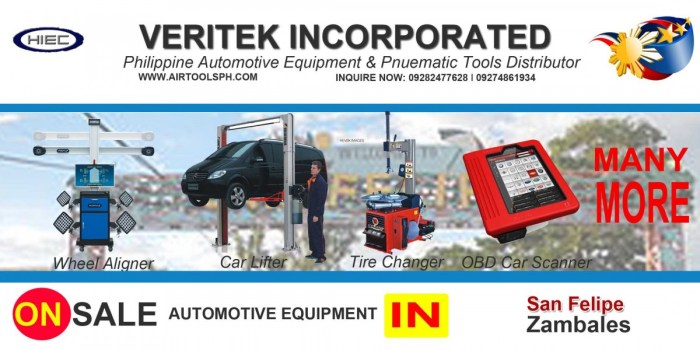 Automotive Equipment Distributor in San Felipe Zambales Philippines