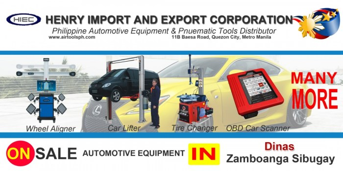 For sale Automotive Equipment in Dinas Zambonga Sibugay-Car lifter-tire changer-wheel aligner-scanner-engine-car