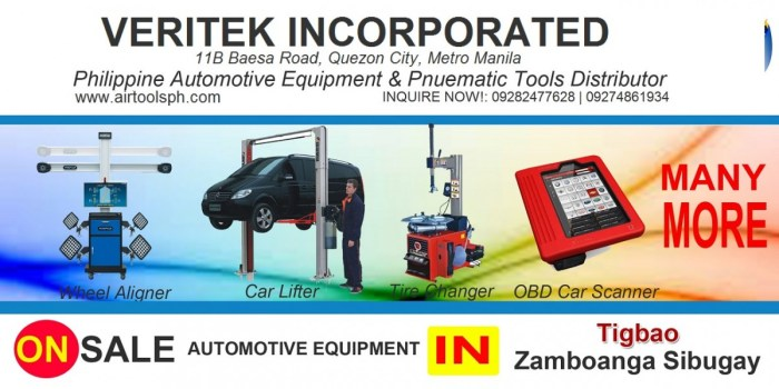 Air Drill,Air Hammer,Air Impact Wrench,Air Staplers,Automotive Diagnostic Scanner,Bead Seater,Brake Lathe,Car Lifter,City Products,Coil Nailer,Engine Crane,Flexitank,Freon Recovery,Hydraulic Press,Jack Stand,Manual Tire Mounting Tool,Nitrogen Generator,Our Client,Spray Gun,Spring Compressor,Tire Changer,Tool Caddy,Transmission Fluid Exchanger,Transmission Jack,Truck Tire Changer,Wheel Aligner,Wheel Balancing Machine,Zamboanga del Sur,Aurora,Bayog,Dimataling,Dinas,Dumalinao,Dumingag,Guipos,Josefina,Kumalarang,Labangan,Lakewood,Lapuyan,Mahayag,Margosatubig,Midsalip,Molave,Pagadian,Pitogo,Ramon Magsaysay (Liargo),San Miguel,San Pablo,Sominot (Don Mariano Marcos),Tabina,Tambulig,Tigbao,Tukuran,Vincenzo A. Sagun,Zamboanga City,Alicia,Buug,Diplahan,Imelda,Ipil,Kabasalan,Mabuhay,Malangas,Naga,Olutanga,Payao,Roseller Lim,Siay,Talusan,Titay,Tungawan,For sale Automotive Equipment and in Naga Zambonga Sibugay-Car lifter-tire changer-wheel aligner-scanner-engine-car,For sale Automotive Equipment and in Olutanga Zambonga Sibugay-Car lifter-tire changer-wheel aligner-scanner-engine-car,For sale Automotive Equipment and in Payao Zambonga Sibugay-Car lifter-tire changer-wheel aligner-scanner-engine-car,For sale Automotive Equipment and in Roseller Lim Zambonga Sibugay-Car lifter-tire changer-wheel aligner-scanner-engine-car,For sale Automotive Equipment and in Siay Zambonga Sibugay-Car lifter-tire changer-wheel aligner-scanner-engine-car,For sale Automotive Equipment and in Talusan Zambonga Sibugay-Car lifter-tire changer-wheel aligner-scanner-engine-car,For sale Automotive Equipment and in Titay Zambonga Sibugay-Car lifter-tire changer-wheel aligner-scanner-engine-car,For sale Automotive Equipment and in Tungawan Zambonga Sibugay-Car lifter-tire changer-wheel aligner-scanner-engine-car,For sale Automotive Equipment in Bayog Abra,For sale Automotive Equipment in Josefina Abra,For sale Automotive Equipment in Labangan Abra,For sale Automotive Equipment in Lapuyan Zambonga Sibugay-Car lifter-tire changer-wheel aligner-scanner-engine-car,For sale Automotive Equipment in Mahayag Zambonga Sibugay-Car lifter-tire changer-wheel aligner-scanner-engine-car,For sale Automotive Equipment in Margosatubig Abra,For sale Automotive Equipment in Midsalip Abra,For sale Automotive Equipment in San Miguel Zambonga Sibugay-Car lifter-tire changer-wheel aligner-scanner-engine-car,For sale Automotive Equipment in San Pablo Zambonga Sibugay-Car lifter-tire changer-wheel aligner-scanner-engine-car,For sale Automotive Equipment in Sominot Zambonga Sibugay-Car lifter-tire changer-wheel aligner-scanner-engine-car,For sale Automotive Equipment in Tambulig Abra,For sale Automotive Equipment in Tigbao Abra