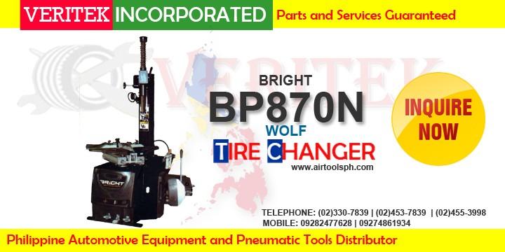 BP 870n Wolft tire changer