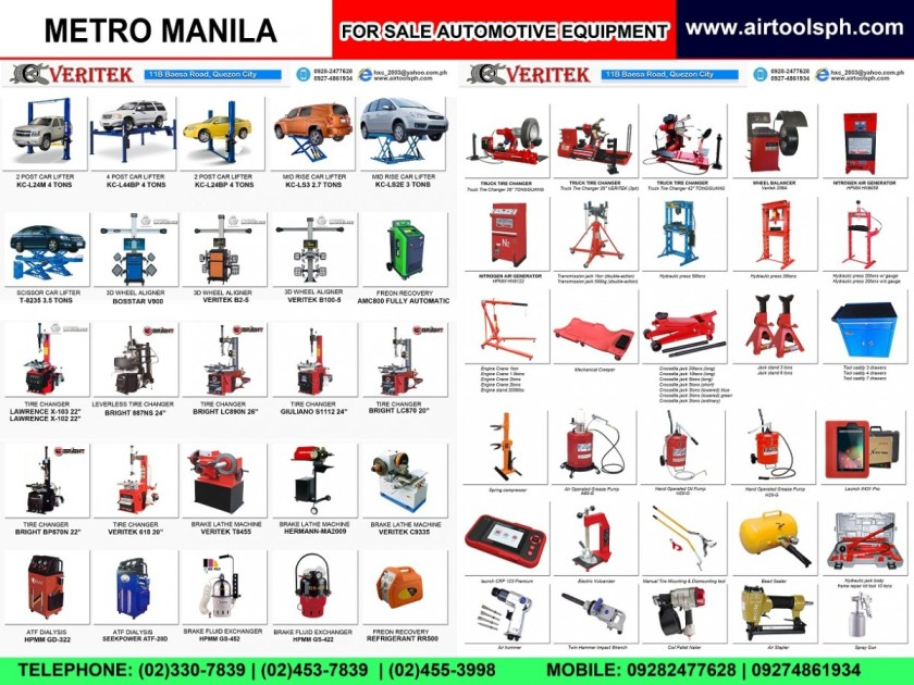 For sale Automotive Accessories in Navotas City,For sale Air Drill in Navotas City,For sale Air Hammer in Navotas City,For sale Air Impact Wrench in Navotas City,For sale Air Staplers in Navotas City,For sale Automotive Diagnostic Scanner in Navotas City,For sale Bead Seater in Navotas City,For sale Brake Lathe in Navotas City,For sale Car Lifter in Navotas City,For sale City Products in Navotas City,For sale Coil Nailer in Navotas City,For sale Engine Crane in Navotas City,For sale Flexitank in Navotas City,For sale Freon Recovery in Navotas City,For sale Hydraulic Press in Navotas City,For sale Jack Stand in Navotas City,For sale Manual Tire Mounting Tool in Navotas City,For sale Nitrogen Generator in Navotas City,For sale Oil Reset DIY in Navotas City,For sale Our Client in Navotas City,For sale Spray Gun in Navotas City,For sale Spring Compressor in Navotas City,For sale Tire Changer in Navotas City,For sale Tool Caddy in Navotas City,For sale Transmission Fluid Exchanger in Navotas City,For sale Transmission Jack in Navotas City,For sale Truck Tire Changer in Navotas City,For sale Wheel Aligner in Navotas City,For sale Wheel Balancing Machine in Navotas City