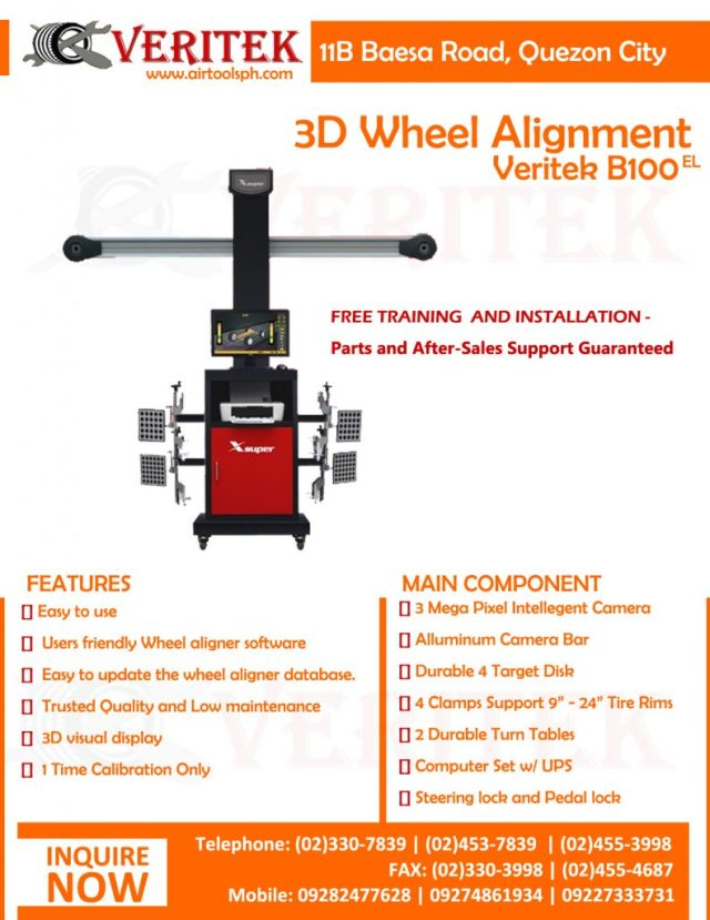 LAWRENCE x86 B100 3D WHEEL ALIGNMENT PHILIPPINES