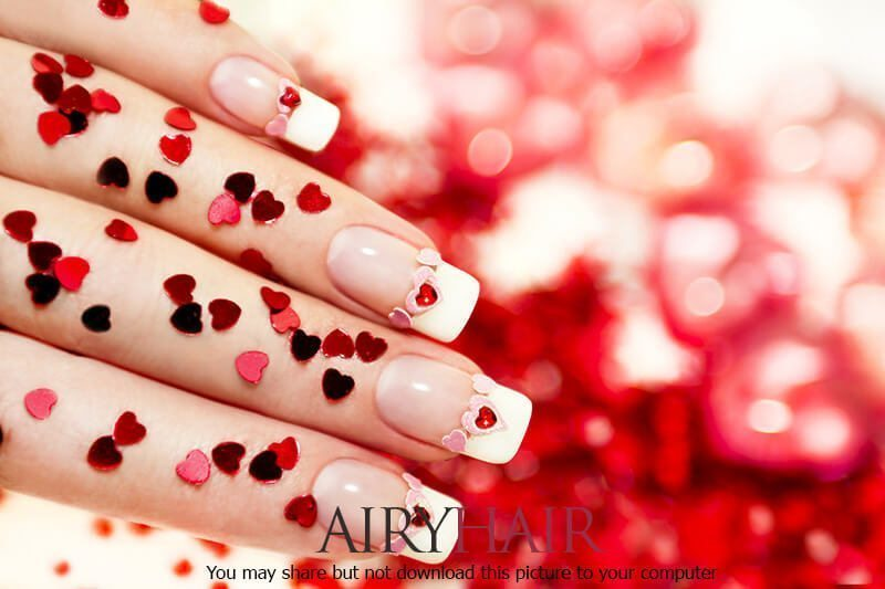 Valentine S Day Special Nail Art Design With Hearts