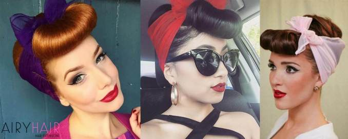 3+ stunning rockabilly or pinup hairstyles