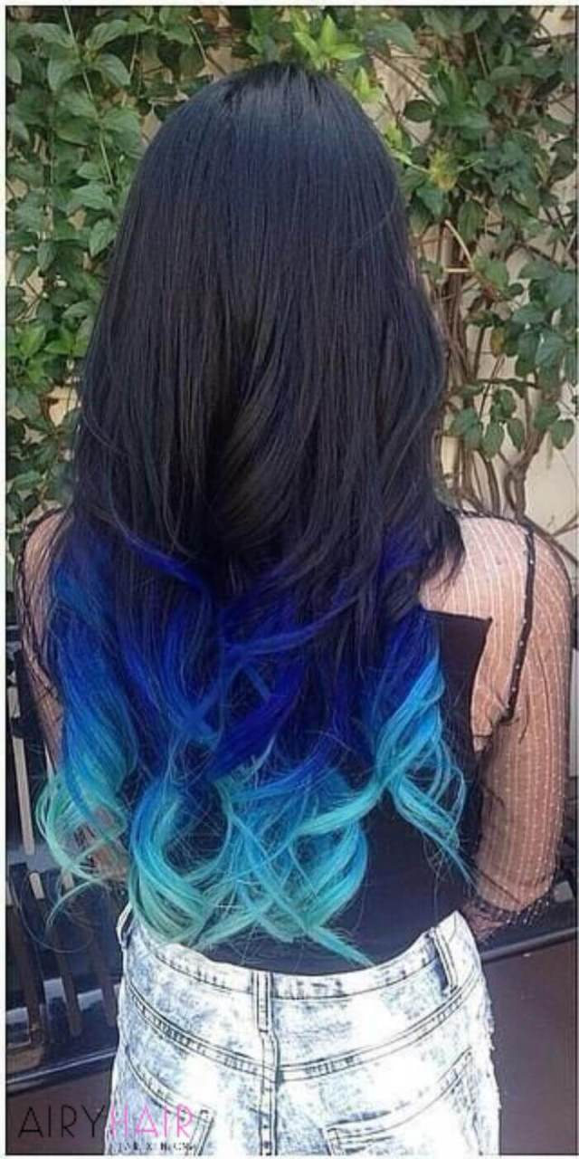 20+ blue and pastel blue ombré ideas for hair extensions