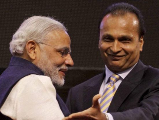Modi and Anil Ambani