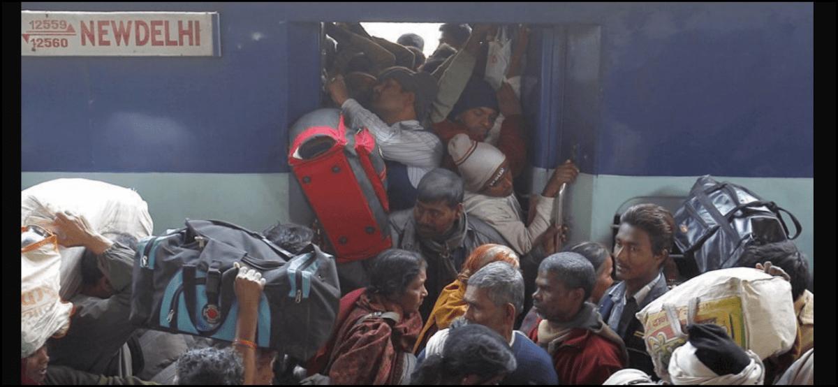 People boarding train