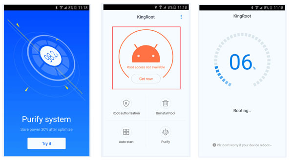 Rooter l'appareil Android avec KingRoot