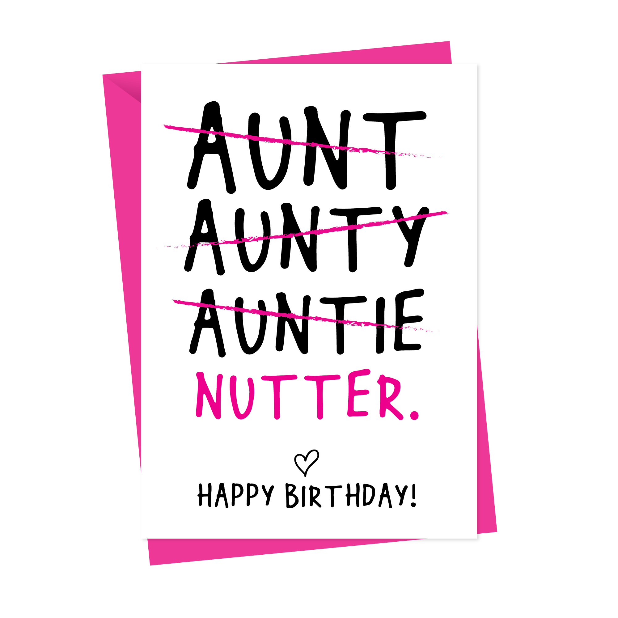 Funny Auntie Birthday Card Personalised Funny Auntie Birthday Card