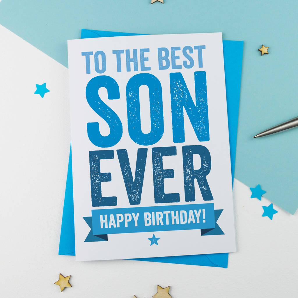 Son Birthday Card Birthday Card A Is For Alphabet