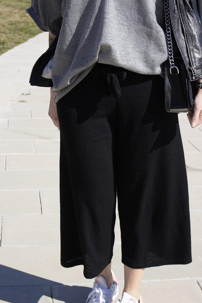Pantalones culotte detalles