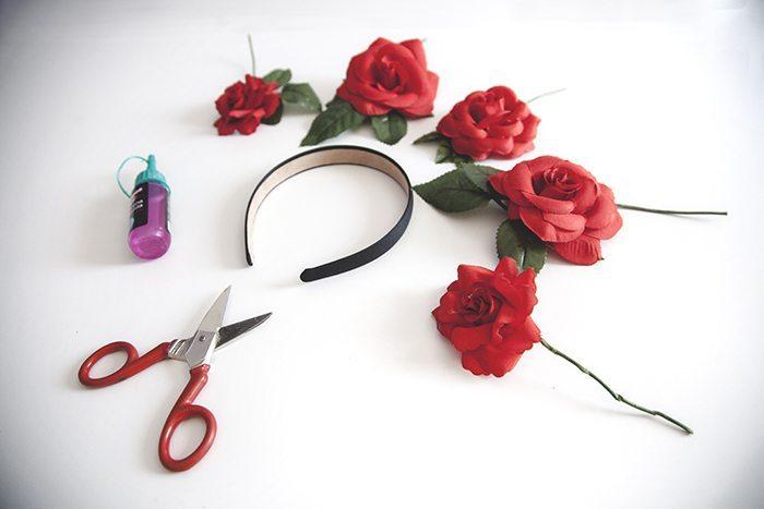 DIY corona de flores bohemia