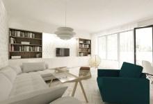 Residential building interior design