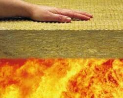 Lana de roca fina y el fuego