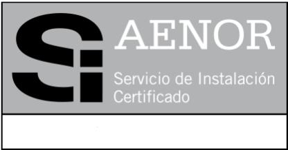 Servicio de instalación Certificado AENOR