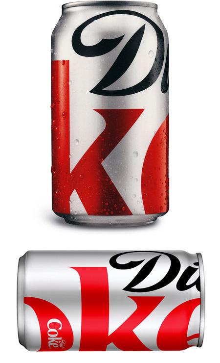 Minimal Diet Coke Packaging