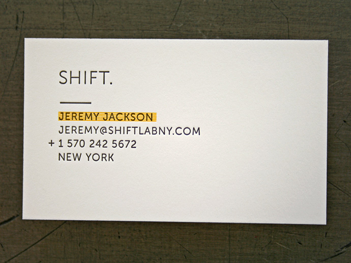 Shift Lab Card