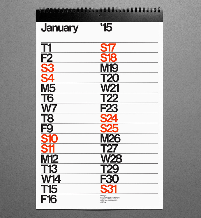 2015 Rationale Calendar