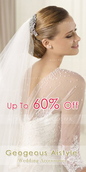 Aislestyle offering the high quality and affordable wedding accessories for girls (including wedding veil, jacket, glove, hair/veil accessories and more)