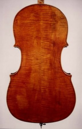 Photo of the back of an original Guadagnini