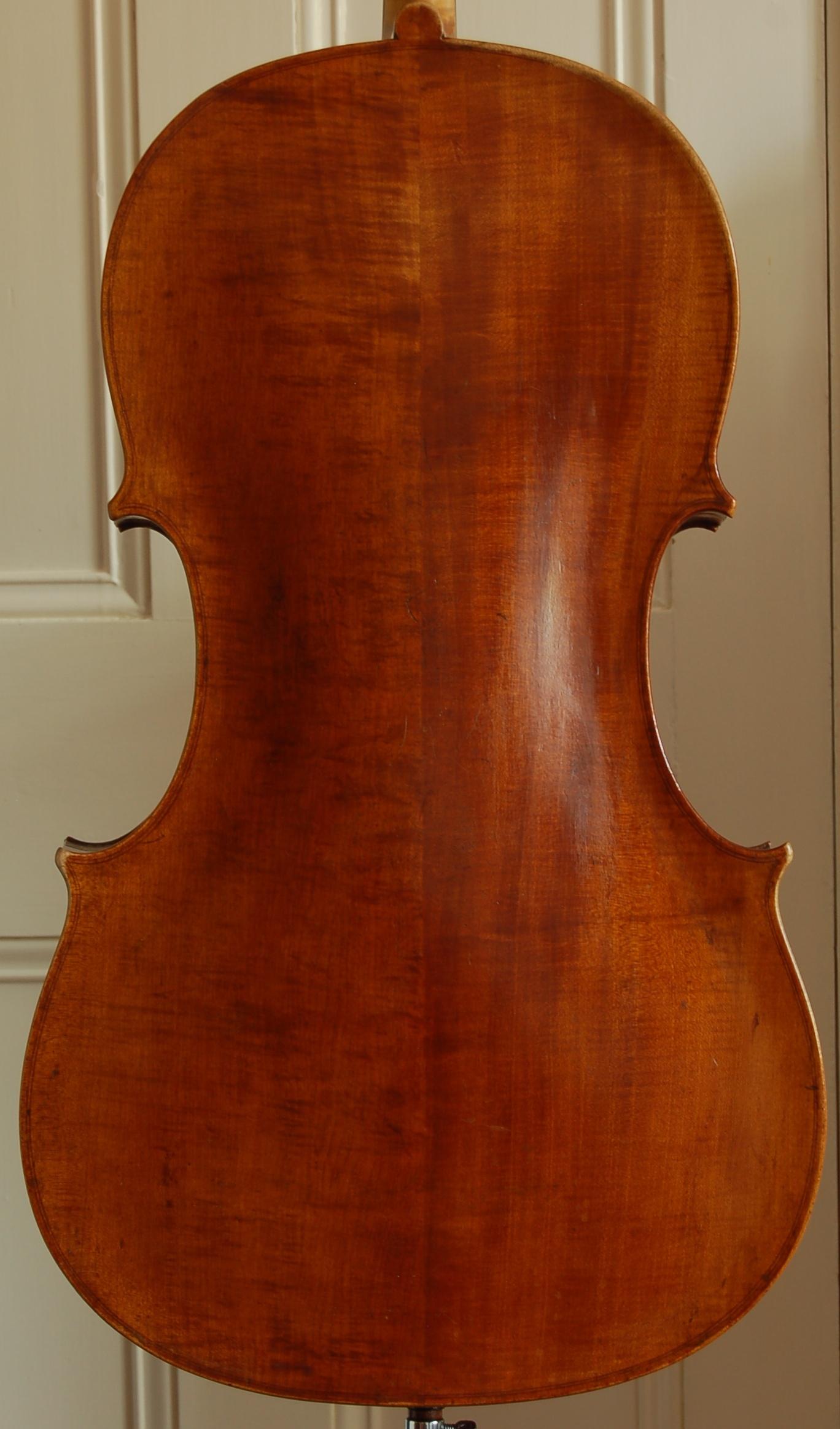 Carlo Antonio Testore cello back