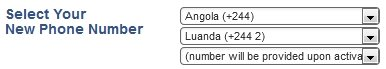 Angola Virtual Phone Number