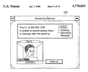 Answering machine patent