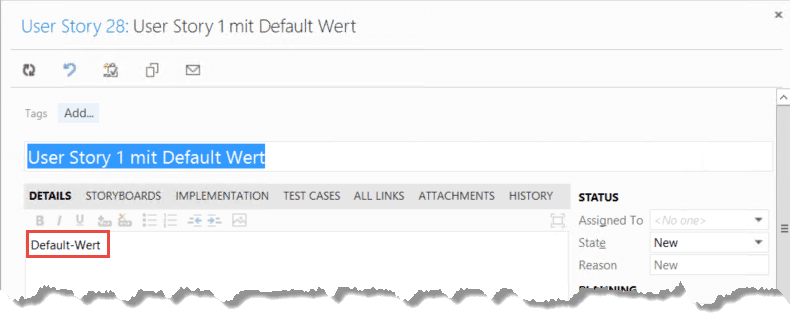mochte man in diesem kontext jedoch nicht nur einfachen text sondern sonderzeichen oder html tags als standardwert verwenden so ergeben sich verschiedene