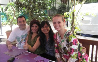 Gagori with students - 2 weeks Ayurveda Massage Course India