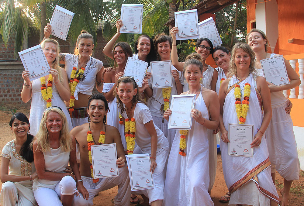Ayurveda Massage Course in Goa, India - Certification Day