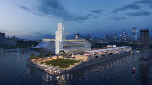 Architectural rendering of the future Grand Quai, Port of Montreal