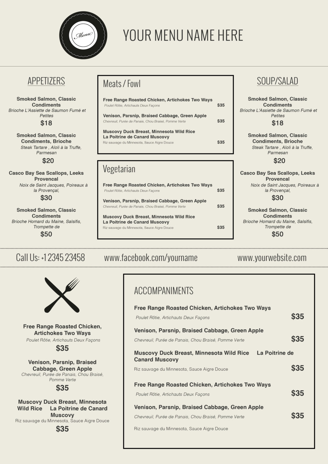 Doc770477 Free Menu Templates for Microsoft Word Free – Free Restaurant Menu Template Word