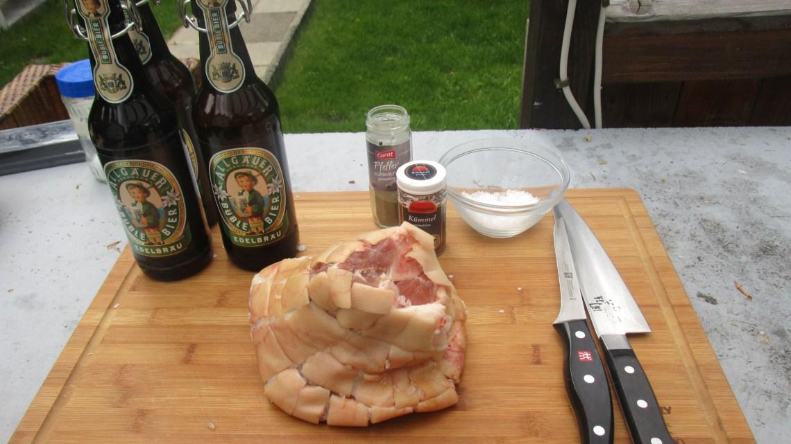 Schweinshaxe vom Grill