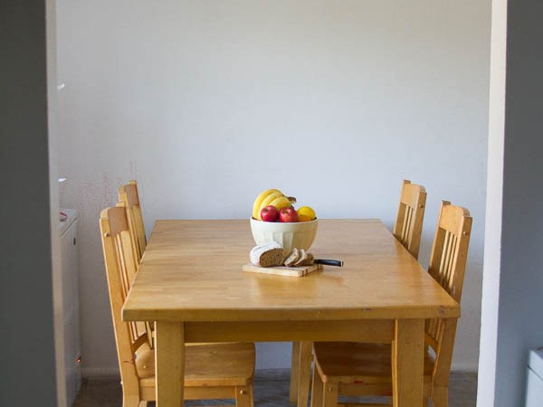 My secret to a clean kitchen: start with the kitchen table